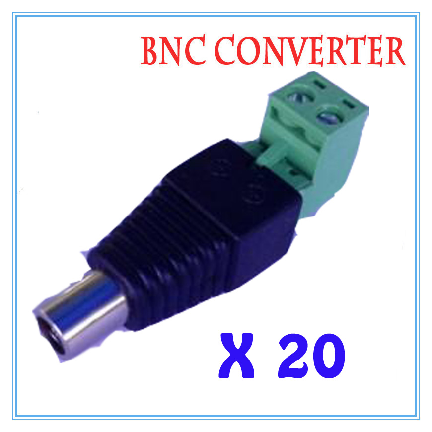 20pcs/lot DC Power Plug BNC Connector DC Female Elbow Adapter For CCTV IP Camera Power Supply Surveillance Accessories 2 5 sata to ide hdd caddy for dell d500 d600 inspiron 300m 500m more