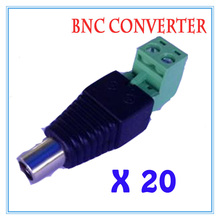 20pcs/lot DC Power Plug BNC Connector DC Female Elbow Adapter For CCTV IP Camera Power Supply Surveillance Accessories