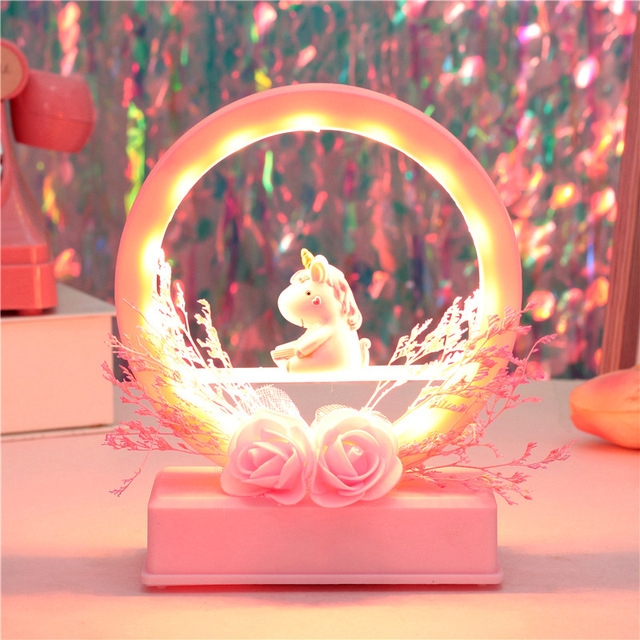 Lovely Music Unicorn Led Night Light
