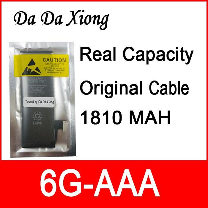 imágenes para 10 unids/lote Capacidad Real 1810 mAh Núcleo junta de Protección 3.7 V Cero cíclica de La Batería para el iphone 6 6G reemplazo piezas de reparación 6G-AAA