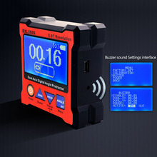 DXL360S Dual Axis Digital Angle Protractor with 5 Side Magnetic Base High-precision Dual-axis Digital Display Level Gauge Levels