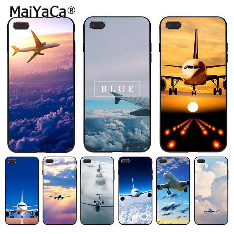 MaiYaCa Aereo Aereo fly viaggio nube Cielo Coque Cassa Del Telefono per iphone 11 Pro XR XS Max 8 7 6 6S Plus X 5 5S SE