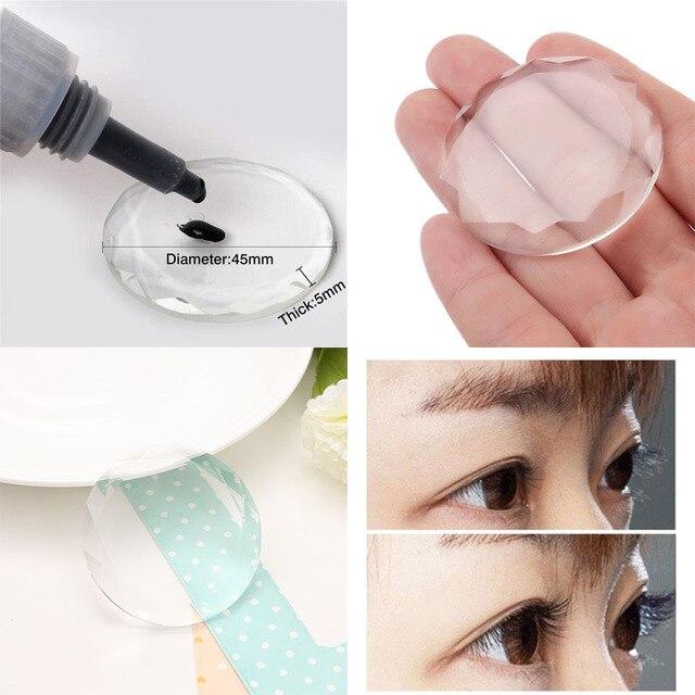 1PC New Fashion Professional Individual Galss Crystal Eyelash Extension Glue Holder Eyelash Adhesive Stand Makeup Beauty Tool Makeup Brushes
