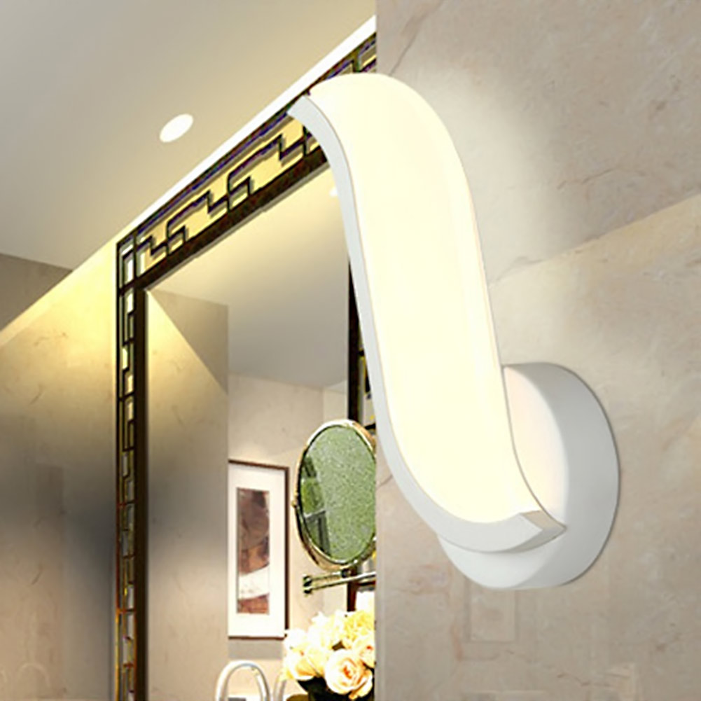 ФОТО Led wall light new modern high quality LED wall lamp for bathroom bedroom wall Sconce White creative indoor novelty lighting