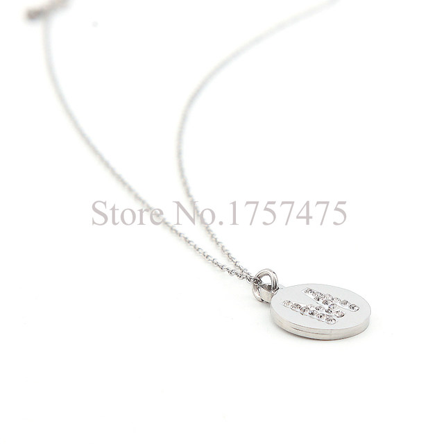 Online shop tdiyj top selling stainless steel round gold tiny tdiyj top selling stainless steel round gold tiny initial necklace disc m letter personalized charm pendant necklace 2pcslot mozeypictures Choice Image