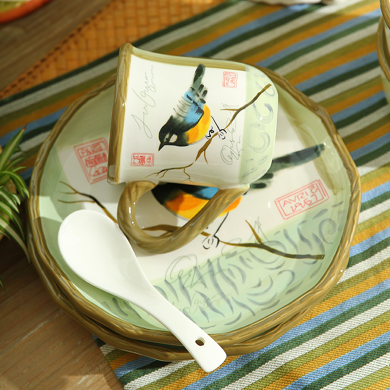 Free Shipping 8 Inch Hand painted Tableware Wedding House Warming Gift Ceramic Plates Dishes Dinner Plate Tableware Plates-in Dishes u0026 Plates from Home ... & Free Shipping 8 Inch Hand painted Tableware Wedding House Warming ...