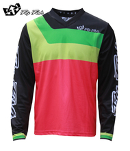 FLY FISH Racing GP Mens Jersey PRISMA Flo Pink MX MTB Off Road Mountain Bike moto DH BMX motocross jersey
