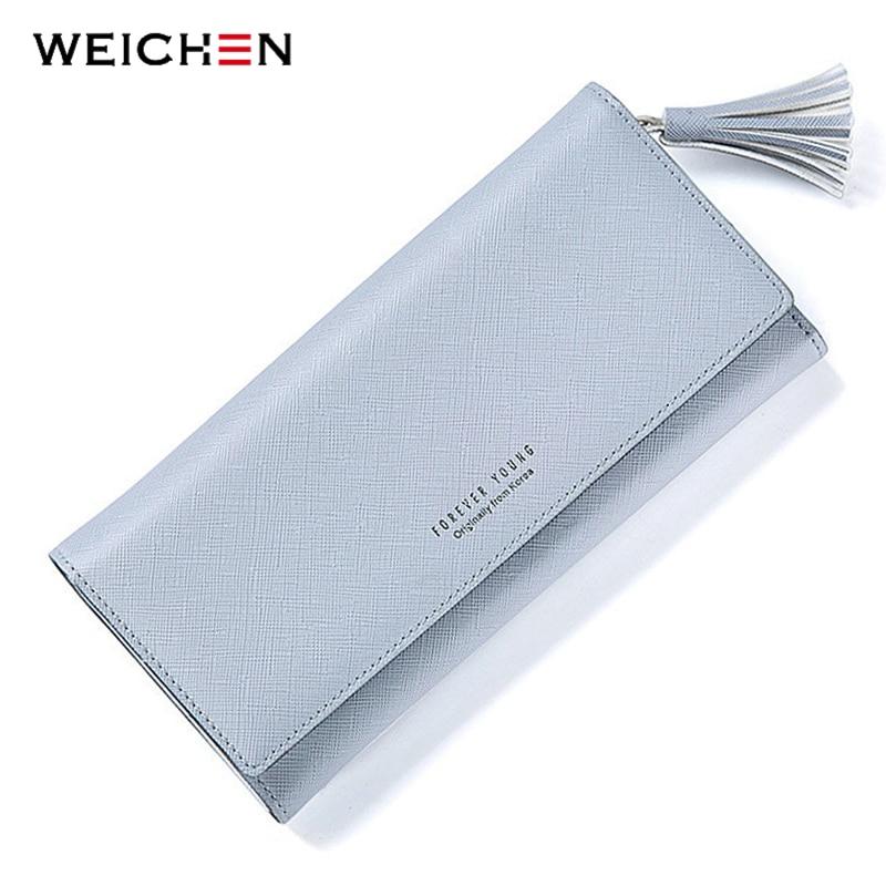 100% Wahr Weichen Marke Grau Quasten Brieftasche Frauen Individuelle Karte Halter Leder Damen Lange Kupplung Geldbörse Handy Tasche Weibliche Brieftaschen