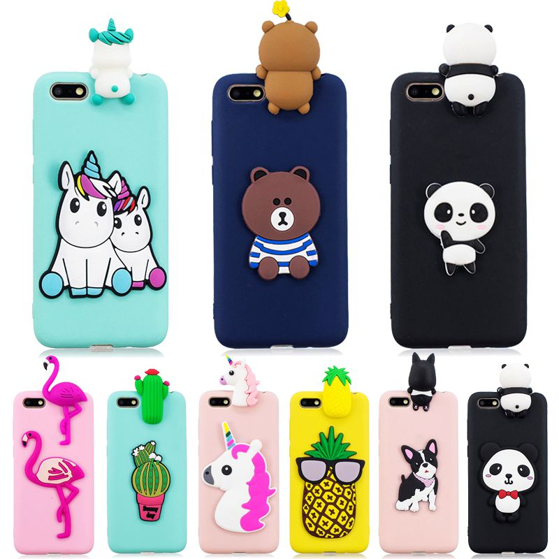 Huawei Y5 Lite 2018 Case on for Coque Huawei Y 5 Y5 Lite 2018 case cover Cartoon 3D Doll Toys Soft Silicone Phone Case Women Men-in Fitted Cases from Cellphones & Telecommunications