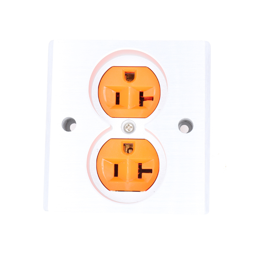 Factory directly offer 2pcs Orange High Quality Power US AC Power Receptacle Wall Outlet Copper Socket free shipping 2pcs black high quality power us ac power receptacle wall outlet copper socket