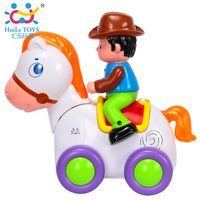 HUILE TOYS 838A Baby Toys Happy Racing Horse With Music Lights Kids Crawl Styling Toy For