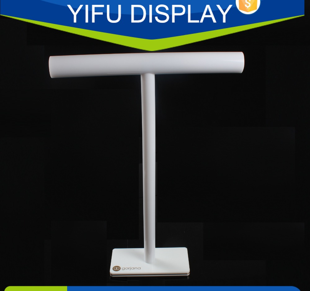 FashionT-bar Acrylic Jewelry Display Stand, Necklace Display Rack Wholesale high grade mercerized silk pendants display shows the disc tray jewelry ring display stand jewelry stand props wholesale