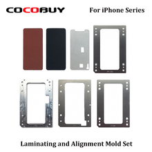 Novecel Laminating and Alignment Mold Set for iPhone X 8P 8G 7P 7G 6SP 6S 6P 6G 5S 5G with OCA LCD Vacuum YMJ Laminating Machine lcd laminating mold for iphone 6s 6sp lcd glass oca polari laminating reparized light machine mold for ymj laminating machine