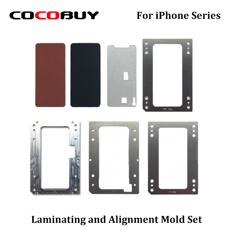Novecel di Laminazione e di Allineamento Della Muffa Set per iPhone X 8 P 8G 7 P 7G 6SP 6 S 6 P 6G 5 S 5G con OCA LCD Vuoto YMJ Macchina di Laminazione