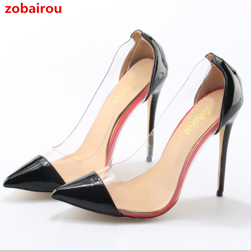 b682768c2ae ... Booties Popular Wedges Shoes Woman. US  78.50. Zobairou Women Pointed  Toe Dress Shoes Popular Transparent PVC High Heels Pumps Slip On Wedding  Party