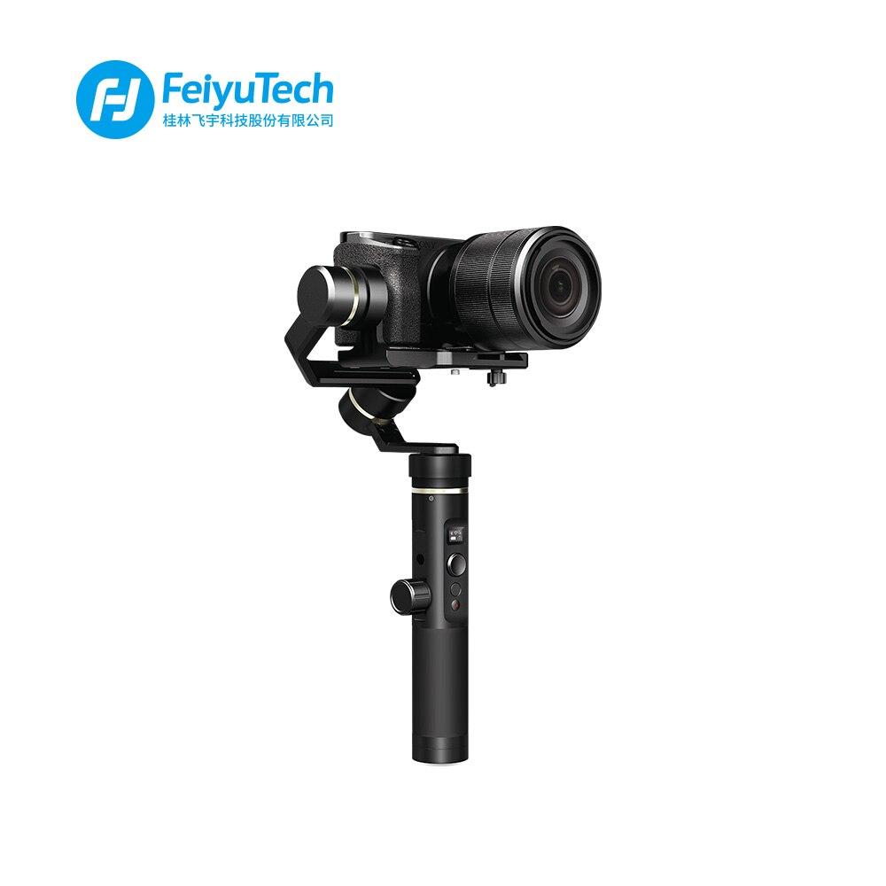 FeiyuTech G6 Plus Résistant Aux Éclaboussures De Poche Cardan Feiyu D'action Caméra Wifi + Bluetooth OLED Écran Élévation Angle pour Gopro