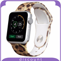38mm 42mm for for Apple Watch 42mmLeopard pattern Soft Durable Silicone Band Released Sport Band with Pin-and-Tuck Closure Strap