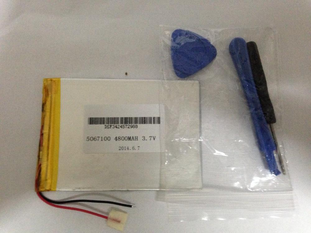 Tablet pc 3.7 V, 4800 mAH (polymère au lithium ion batterie) Li-ion batterie pour tablet pc 7 pouce 8 pouce 9 pouces [5067100] livraison Gratuite