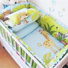個ベビーベッドのベッドバンパー寝具セット綿バンパーパッドベビーベッド用の新生児安全製品ベッドセットミニベビーベッドバンパー 6