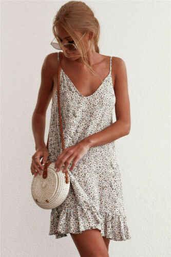 Mulheres Curto Sem Mangas Mini Vestido Casual Tops Blusa Magro T Camisa de Vestido de Verão