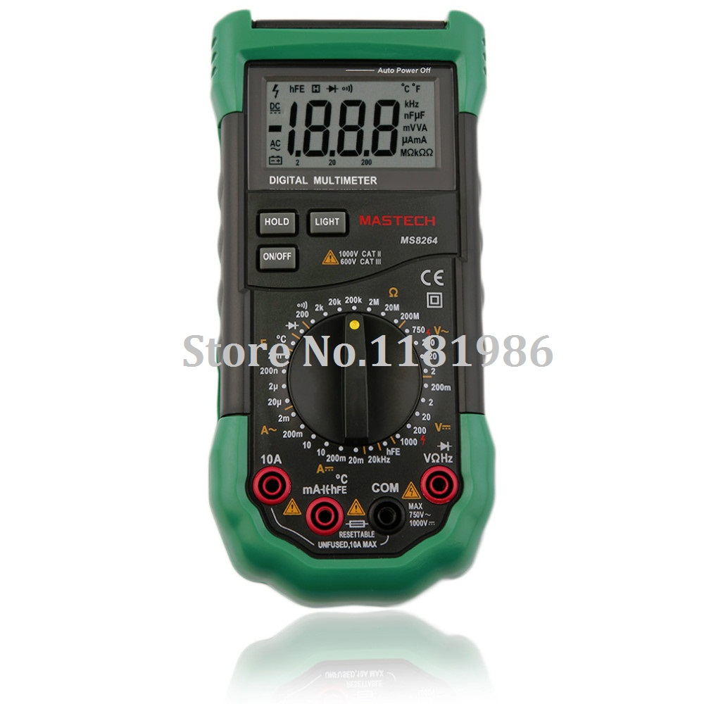 Mastech Ms8264 Digital Multimeter Capacitance Frequency Temperature Meter Circuit Multimetro Multitester Protection Anti Burn In Multimeters From Tools On