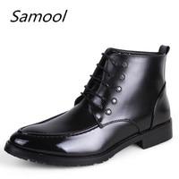 Fashion Men Wedding Dress Leather Shoes 4 Colors Business British High Top Lace Up Men S
