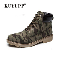 Lace Up Work Safety Women Boots 2016 Fashion Winter Low Heels Womens Military Boots Size 36