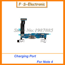 Free shipping For Samsung Note 4 N910F Dock Connector Flex Cable USB Charger Charging Port Micro USB Port Audio Headphone Jack