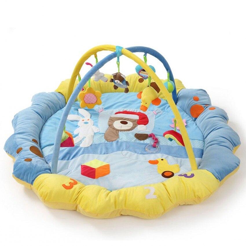 Amusement ours doux bébé tapis de jeu activité Gym tapis de jeu jouet de haute qualité une pièce bébé intérieur jouer couverture ramper Pad pas cher