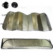 Универсальный светоотражающий складной автомобильный навес, шторка на лобовое стекло, алюминиевая фольга, серебро, солнцезащитная пленка на автомобильное стекло