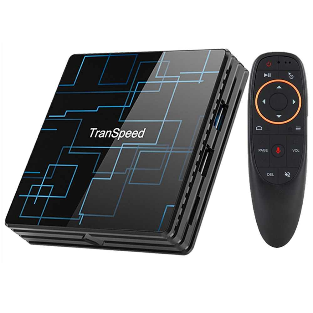 Transpeed Android 9.0 Smart TV BOX 4G 64G Google Voice Assistant RK3318 4K 3D Ultra HD TV Wifi Bluetooth Play Store IPTV Top Box