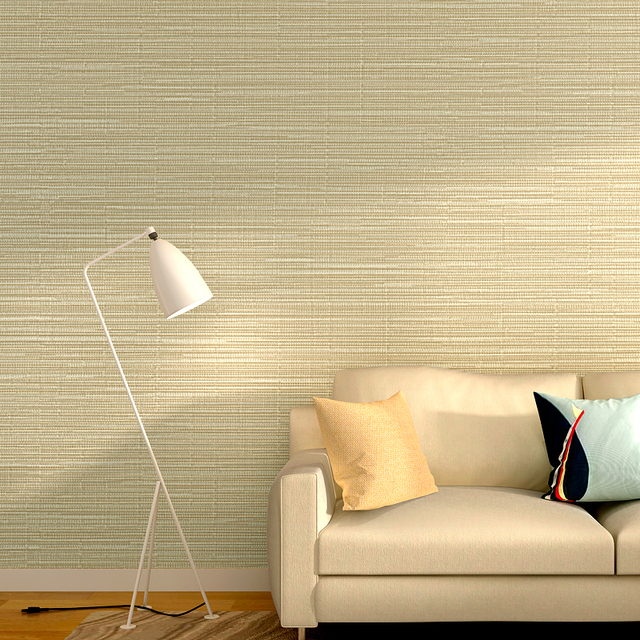 Modern Solid Flax Wallpaper Stripes Tapel Tapiz For Living Room ...