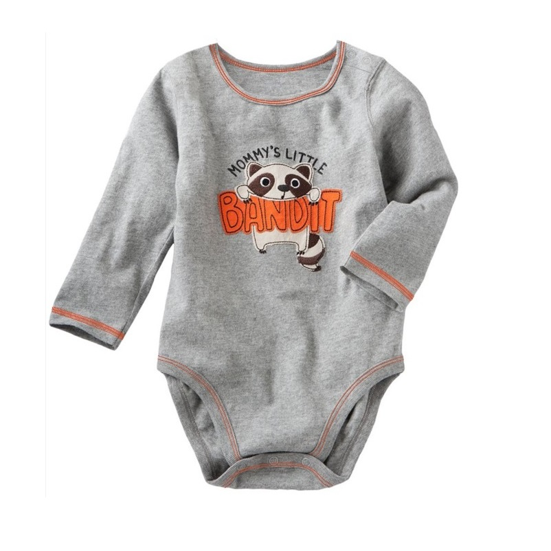 Bandit Raccoon Baby Boy Bodysuit Clothes Months Grey Newborn One-piece Body Baby Jumpsuit Menino Infant-clothing