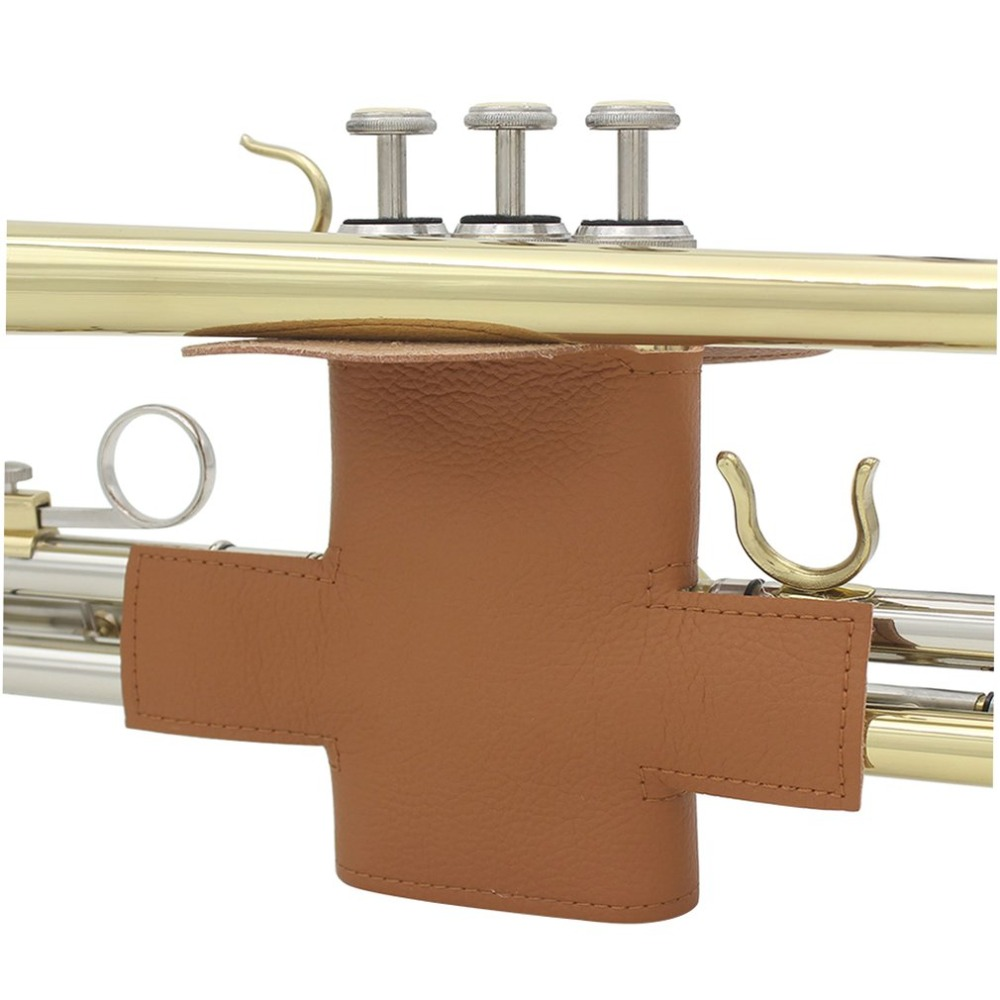 Professional Brown Soft Synthetic Leather Professional Trumpet Protective Cover Brass Case Instruments Trumpet Parts Accessories