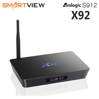 Original X92 2GB/16GB 3GB/32GB Smart Android 7.1 TV Box Amlogic S912 Octa Core 2.4G/5.8G Dual WiFi 4K Media Player Set Top Box