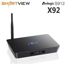 الأصلي X92 2 GB/16 GB 3 GB/32 GB الذكية أندرويد 7.1 صندوق التلفزيون Amlogic S912 ثماني النواة 2.4G/5.8G المزدوج واي فاي 4K مشغل الوسائط تعيين صندوق