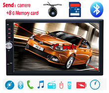 NUEVO Coche reproductor MP4 mp5 de Pantalla Táctil 7'HD automotivo BLUETOOTH manos libres cámara de visión trasera envío gratis