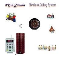 Mindewin сигнальное устройство для ресторана Беспроводной подкачки очереди системы гостевой стол вызова 999 канала Coaster пейджер для быстрого ед...