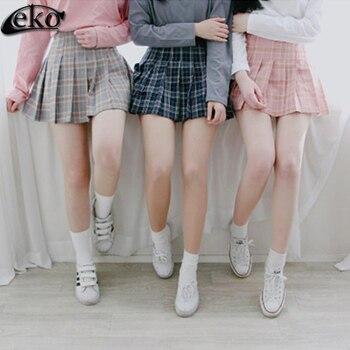 a1ee6d4d7 Faldas a cuadros pantalones cortos para mujer verano caliente AA Falda  plisada uniformes cortos ...