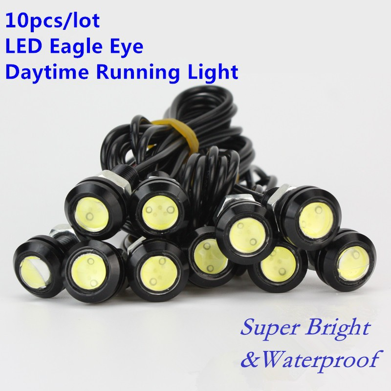 10X High Brightness Eagle Eye Lamp Universal Car DRL 18MM LED Daytime Running Light IP68 Waterproof Daytime Car Light new arrival a pair 10w pure white 5630 3 smd led eagle eye lamp car back up daytime running fog light bulb 120lumen 18mm dc12v