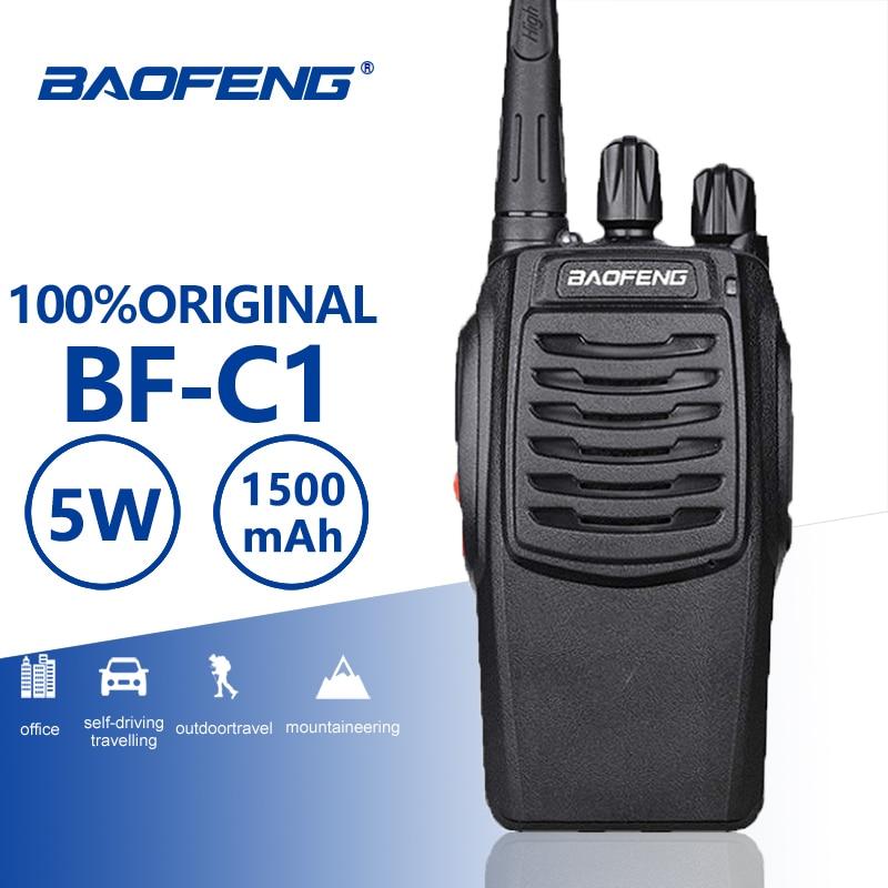 Baofeng BF-C1 5W Walkie Talkie 16CH Two-Way Radio UHF Portable Ham Radio Flashlight PMR Transceiver Upgraded BF-888S Walky Talky