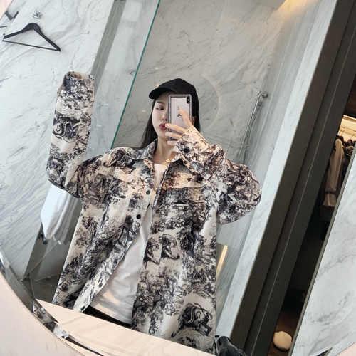 동물 프린트 느슨한 캐주얼 빈티지 꽃 블라우스 2019 한국어 세련된 셔츠 여성 블랙 Blusas Feminina 플러스 사이즈 셔츠 여성