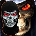Пламя Глаз Скелет Grim Reaper Маска Череп Смерть Airsoft Мотоциклов Велоспорт Лыжная Балаклава Призрак Хэллоуин Полная Маска