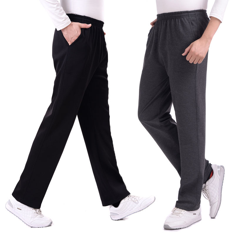 Spring Autumn Joggers Men Casual Loose Sweatpants Men Basic Trousers Tracksuit Solid Bottoms Breathable Sportswear Jogger Pants