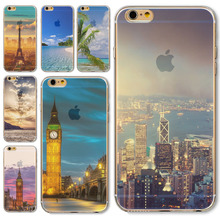 Fashionable Fundas Case For Apple iPhone 6 6S Soft TPU Capa Modern City Painted Silicon Mobile
