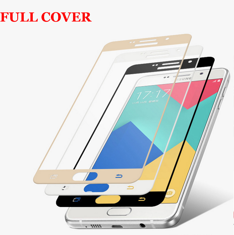 9h 2.5D Edge <font><b>Full</b></font> Cover Premium <font><b>Tempered</b></font> <font><b>Glass</b></font> <font><b>Screen</b></font> Protector <font><b>for</b></font> Samsung Galaxy A5 2016 A5100 A7 2016 A7100 <font><b>Protective</b></font> <font><b>Film</b></font>