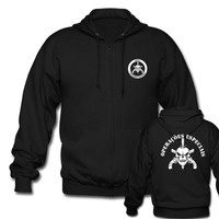 BOPE Elite Death Squad Brazil Special Force Unit Military Police Men S Black Zipper Hoodies Pullover