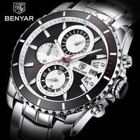BENYAR Men's Watches Brand 2019 Luxury Top Quartz Sports Watch Military Chronograph Fashion Clock Male Watches Relogio Masculino
