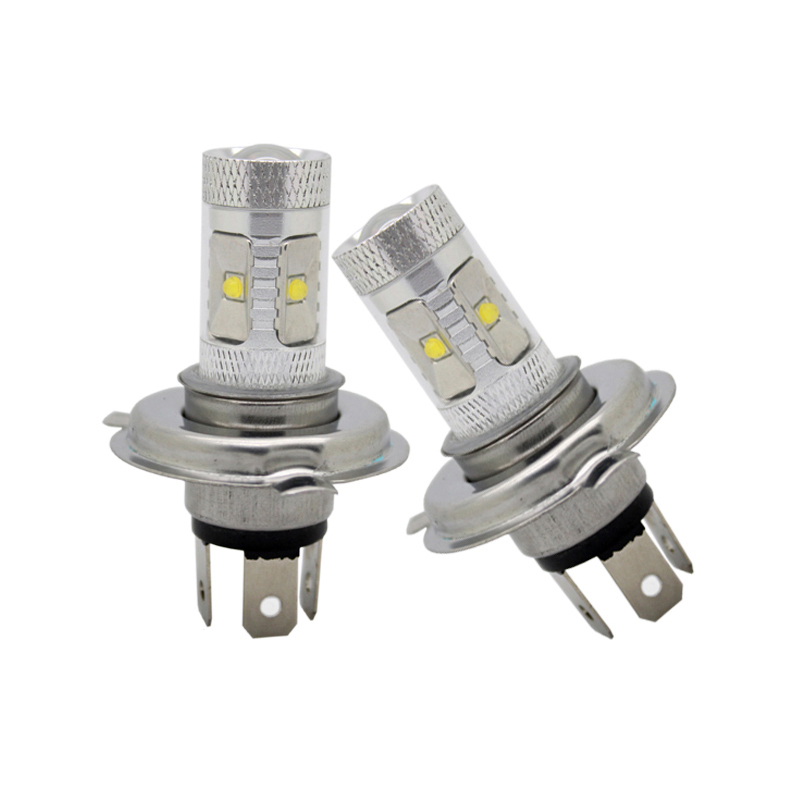 2Pcs/Lot SUNKIA High Power 30W H4 Fog Light Car Styling Xenon White LED Driving Light Lamp Bulb Headlight Free Shipping high quality h3 led 20w led projector high power white car auto drl daytime running lights headlight fog lamp bulb dc12v