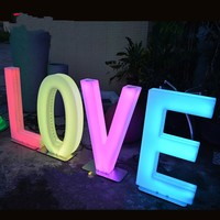 80CM Height Rechargeable Led illuminated Alphabet Letters LOVE design Wedding Centerpieces Road Lead Backdrop Props Decoration